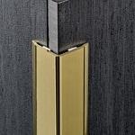 Угол из латуни полированной 15*15 мм.